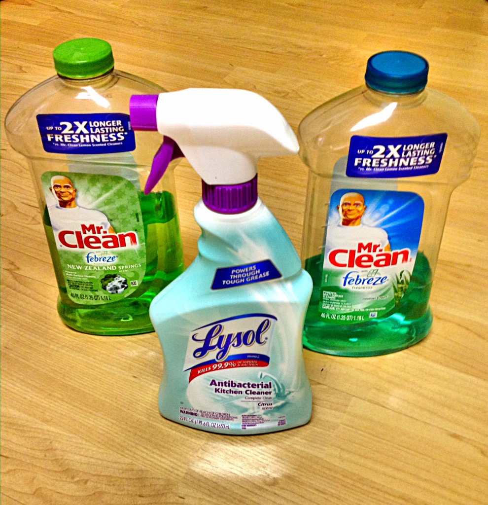 Mr Clean & Lysol: My Kitchen Cleaners