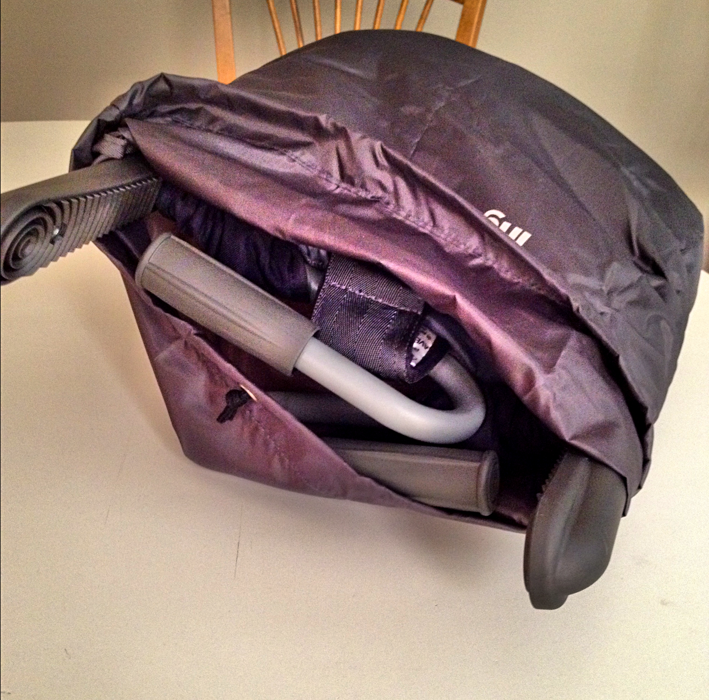 built in bag for easy travel and storage