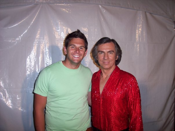 Me and the entertainment. Neil Diamond…impersonator. Jay White.