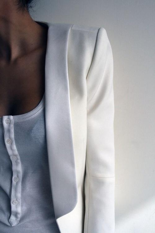 perfect white blazer
