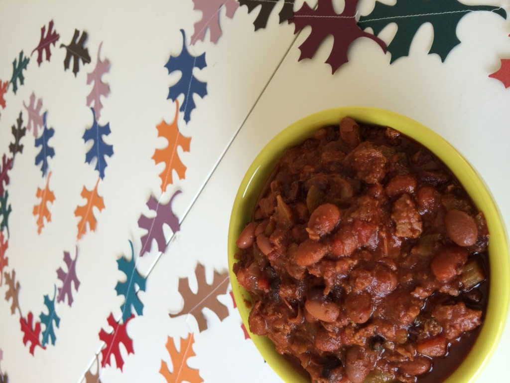perfectly hearty chili for fall