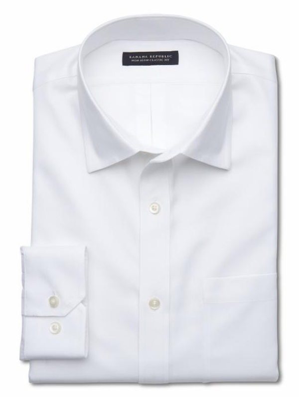Banana Republic - Classic Fit Non-Iron Shirt | Perfect White Shirt | The Modern Dad