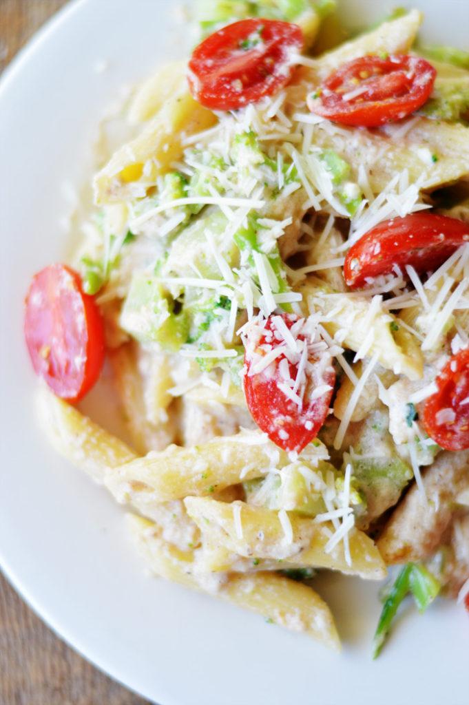 Simple  Margherita Penne Pasta