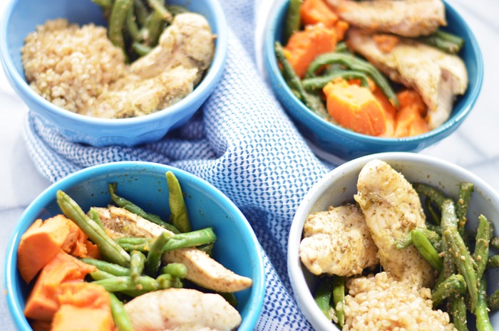 Monday Meal Prepping | Pesto Chicken and Veggies