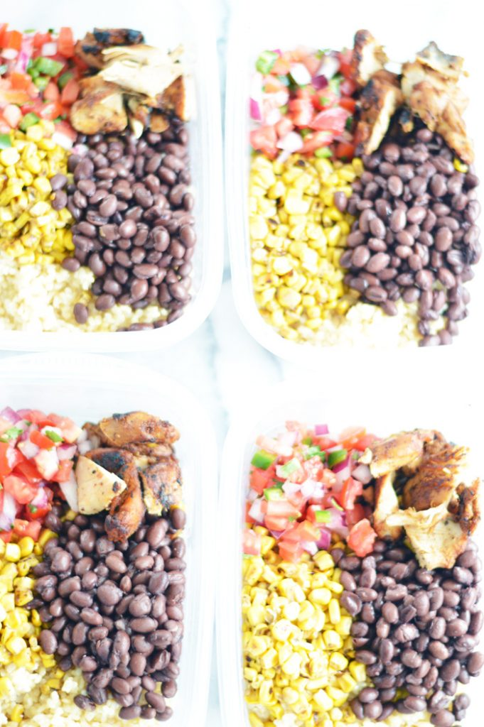 Easy Chicken Burrito Meal Prep Bowls by The Modern Dad