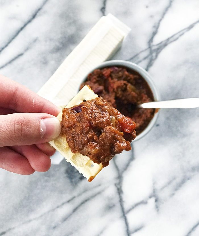 Slow-Cooker Spicy Pumpkin Chili by The Modern Dad