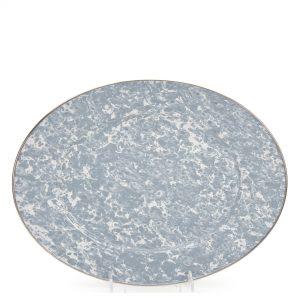 Enamel Swirl Oval Platter