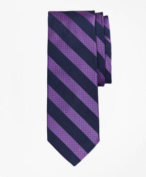 Textured Rugby Stripe Tie